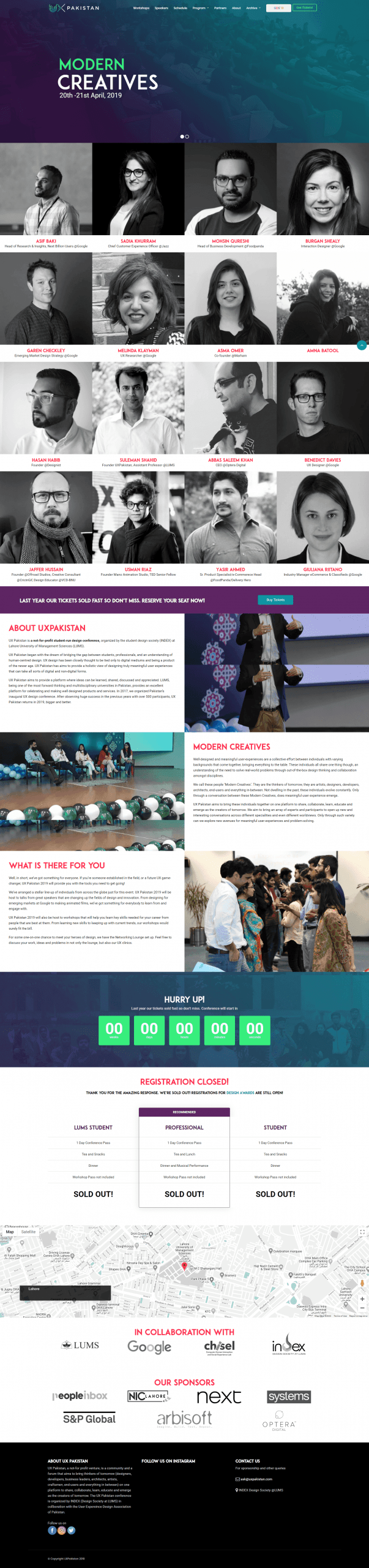 UX Pakistan 2019 Landing Page
